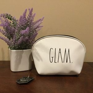 NWT Rae Dunn GLAM Zippered Cosmetic Bag